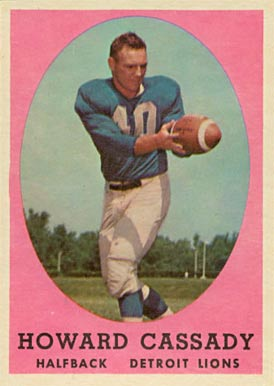 1958 Topps Howard Cassady #7 Football Card
