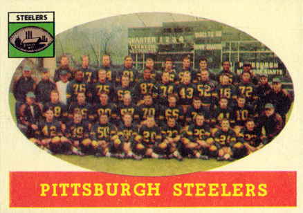 1958 Topps Pittsburgh Steelers Team #116 Football Card