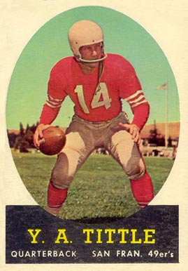 1958 Topps Y.A. Tittle #86 Football Card