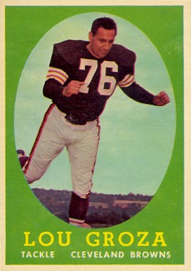 1958 Topps Lou Groza #52 Football Card