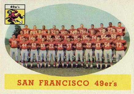 1958 Topps San Francisco 49ers Team #41 Football Card