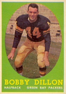 1958 Topps Bobby Dillon #32 Football Card