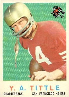 1959 Topps Y.A. Tittle #130 Football Card