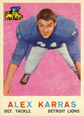 1959 Topps Alex Karras #103 Football Card