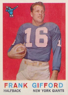 1959 Topps Frank Gifford #20 Football Card