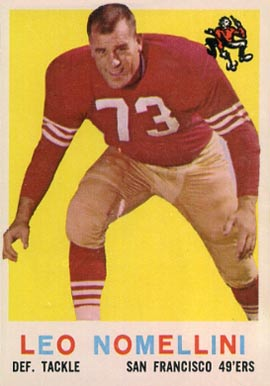 1959 Topps Leo Nomellini #19 Football Card