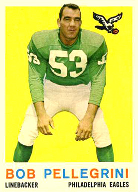 1959 Topps Bob Pellegrini #16 Football Card