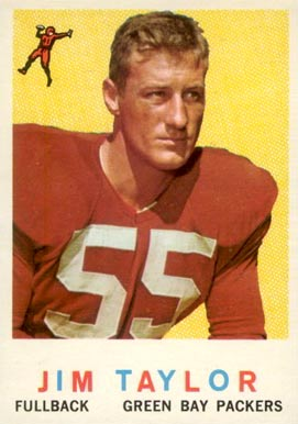 1959 Topps Jim Taylor #155 Football Card