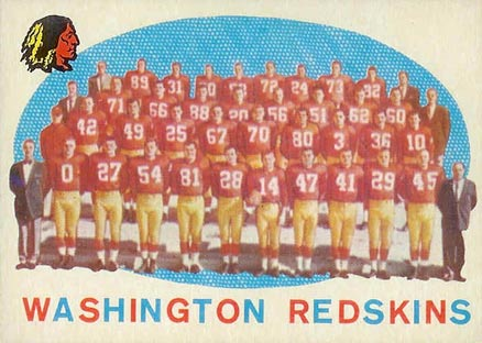 1959 Topps Washington Redskins Team #91 Football Card