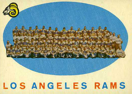 1959 Topps Los Angeles Rams Team #76 Football Card