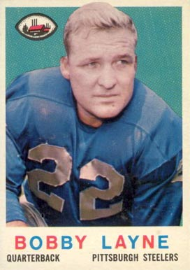 1959 Topps Bobby Layne #40 Football Card