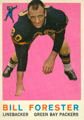 1959 Topps Bill Forester #39 Football Card