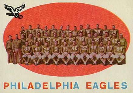1959 Topps Philadelphia Eagles Team #31 Football Card