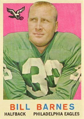 1959 Topps Bill Barnes #25 Football Card