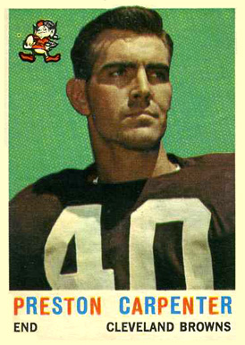 1959 Topps Preston Carpenter #18 Football Card