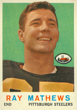 1959 Topps Ray Mathews #11 Football Card