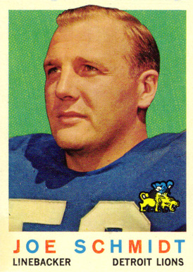 1959 Topps Joe Schmidt #6 Football Card