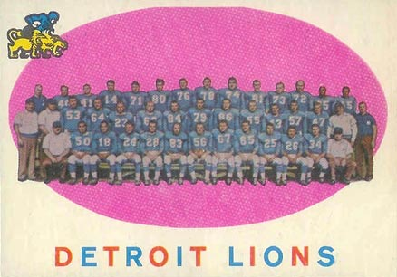 1959 Topps Detroit Lions Team #3 Football Card