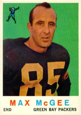1959 Topps Max McGee #4 Football Card
