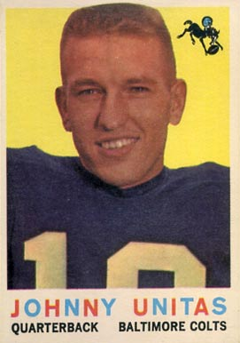 1959 Topps Johnny Unitas #1 Football Card