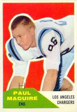 1960 Fleer Paul Maguire #128 Football Card