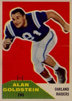 1960 Fleer Alan Goldstein #108 Football Card