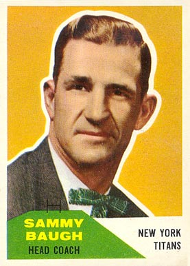 1960 Fleer Sammy Baugh #20 Football Card