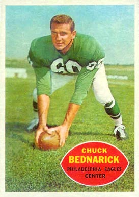 1960 Topps Chuck Bednarik #87 Football Card