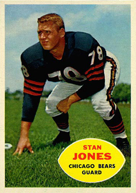 1960 Topps Stan Jones #17 Football Card