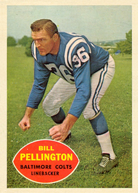 1960 Topps Bill Pennington #8 Football Card