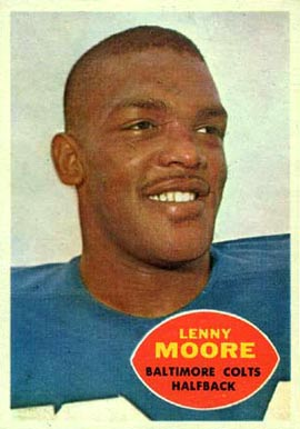 1960 Topps Lenny Moore #3 Football Card