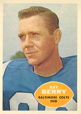 1960 Topps Raymond Berry #4 Football Card