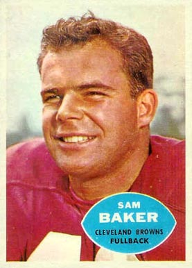 1960 Topps Sam Baker #24 Football Card