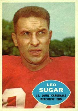 1960 Topps Leo Sugar #110 Football Card