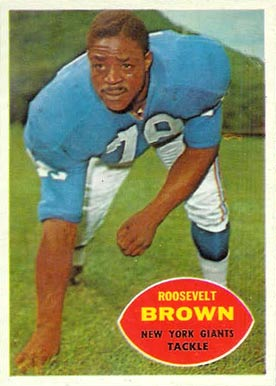 1960 Topps Roosevelt Brown #78 Football Card