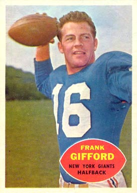 1960 Topps Frank Gifford #74 Football Card