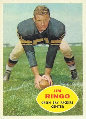 1960 Topps Jim Ringo #57 Football Card