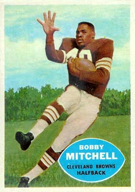 1960 Topps Bobby Mitchell #25 Football Card