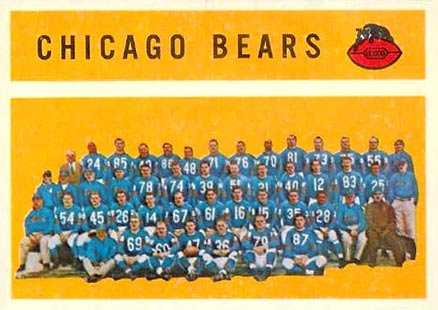 1960 Topps Chicago Bears Team #21 Football Card