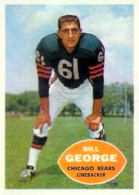 1960 Topps Bill George #18 Football Card