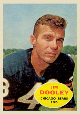 1960 Topps Jim Dooley #15 Football Card