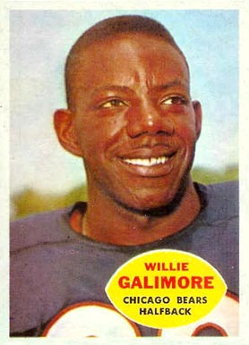 1960 Topps Willie Galimore #14 Football Card