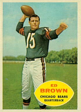1960 Topps Ed Brown #12 Football Card