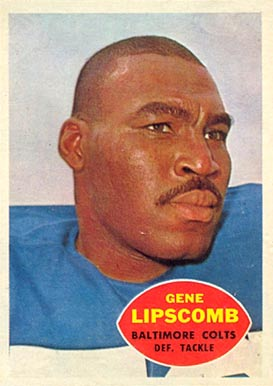 1960 Topps Gene Lipscomb #10 Football Card