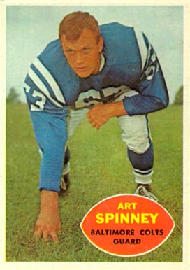 1960 Topps Art Spinney #7 Football Card