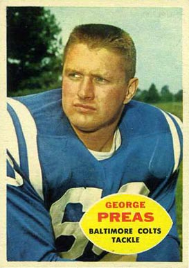 1960 Topps George Preas #6 Football Card