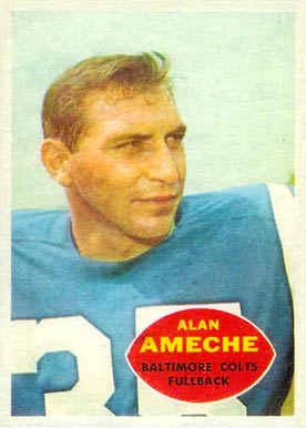 1960 Topps Alan Ameche #2 Football Card