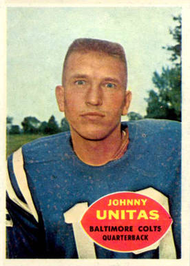 1960 Topps Johnny Unitas #1 Football Card