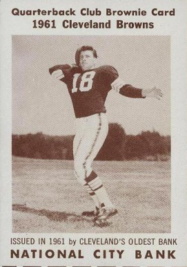 1961 Browns National City Bank Mike McCormack #1 Football Card