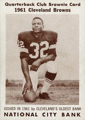 1961 Browns National City Bank Jim Brown #2 Football Card
